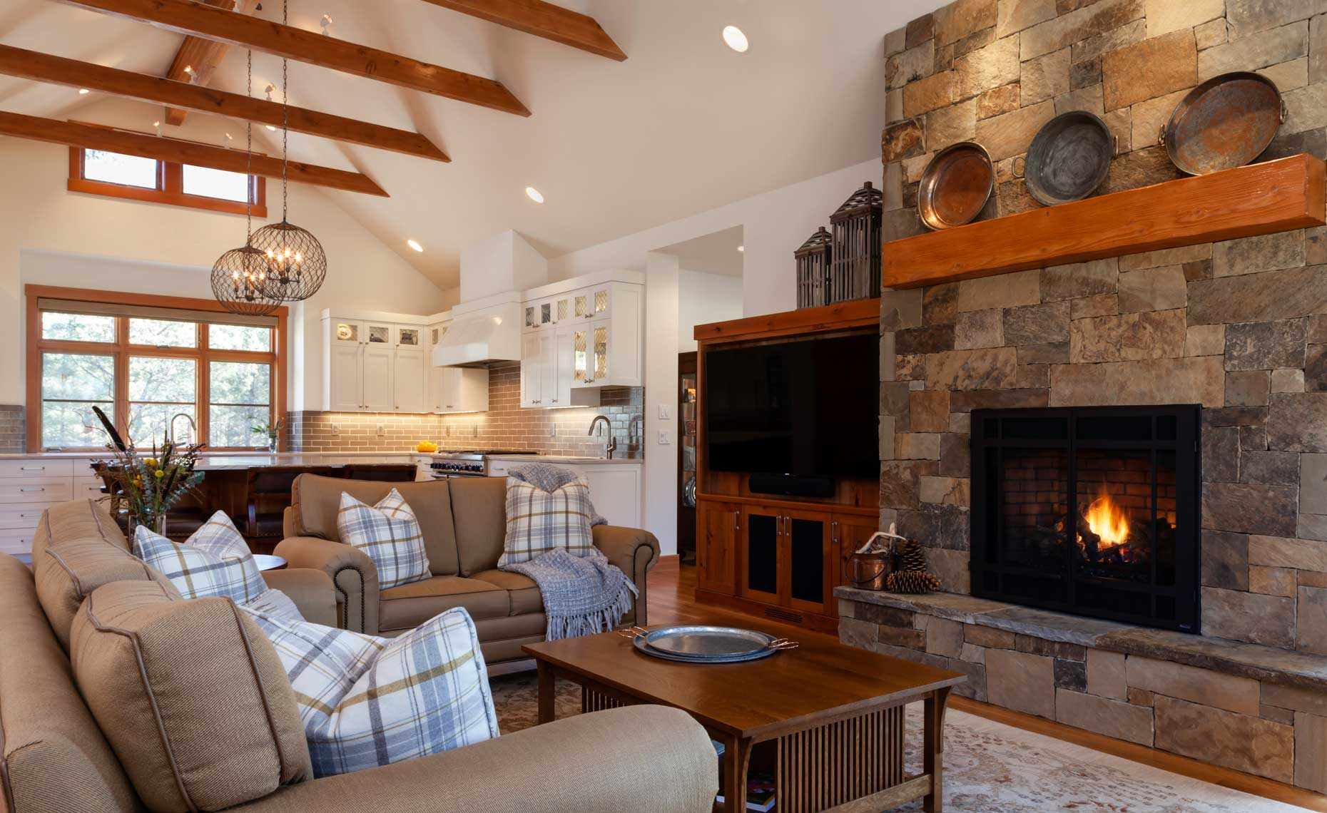 Modern-Ranch-Home-Stone-Fireplace