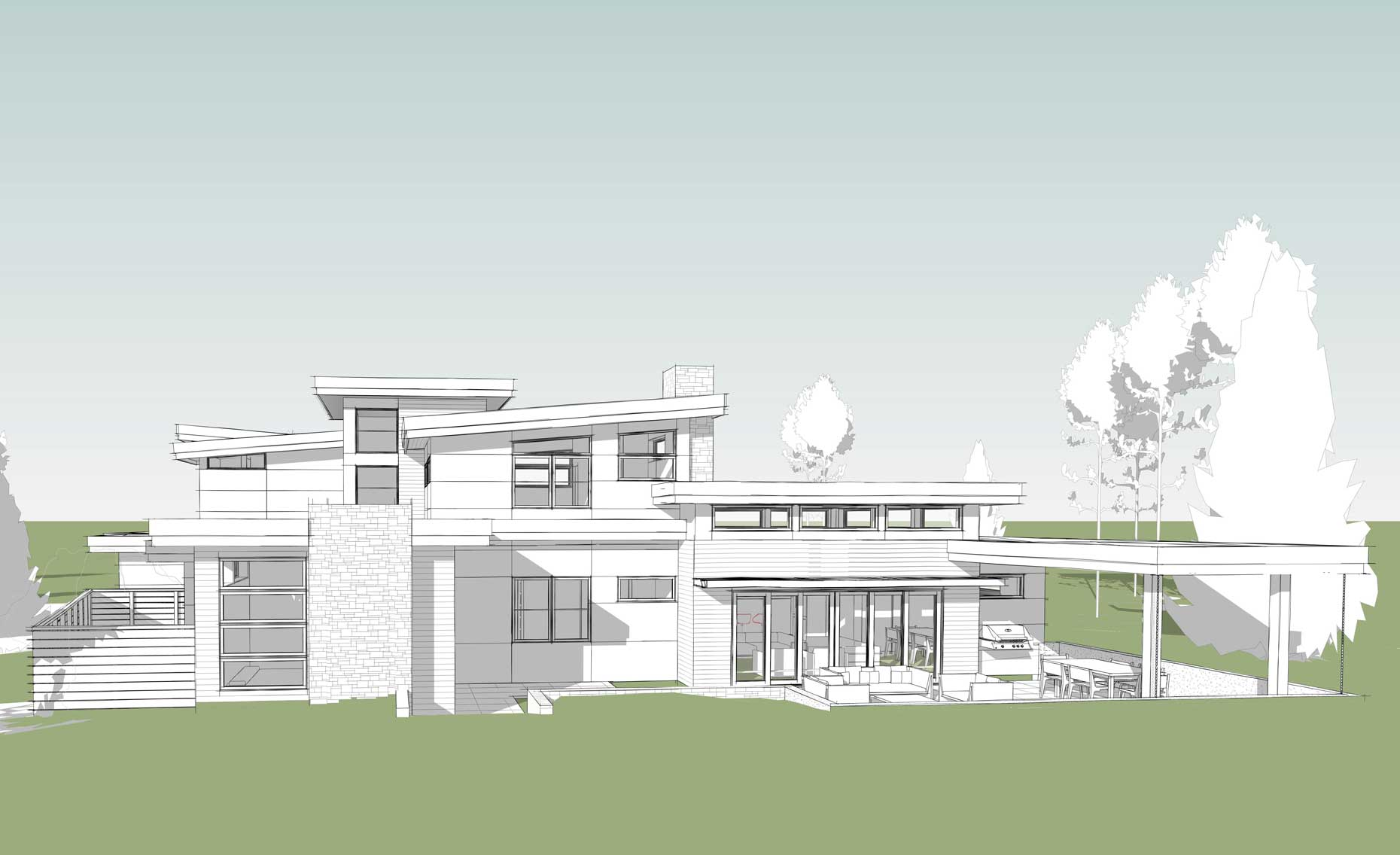 Tetherow-modern-home-south-side2